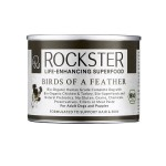 ROCKSTER SUPERFOOD BIRDS OF FEATHER Organiczna, kompletna, mokra karma z  bio kurczakiem i bio indykiem wspierająca zdrową sierść i zdrową skórę - 195 g x 6 szt.