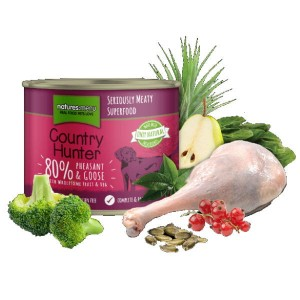 NATURES MENU COUNTRY HUNTER DOG Karma mokra z bażantem i gęsią dla psów - 600 g